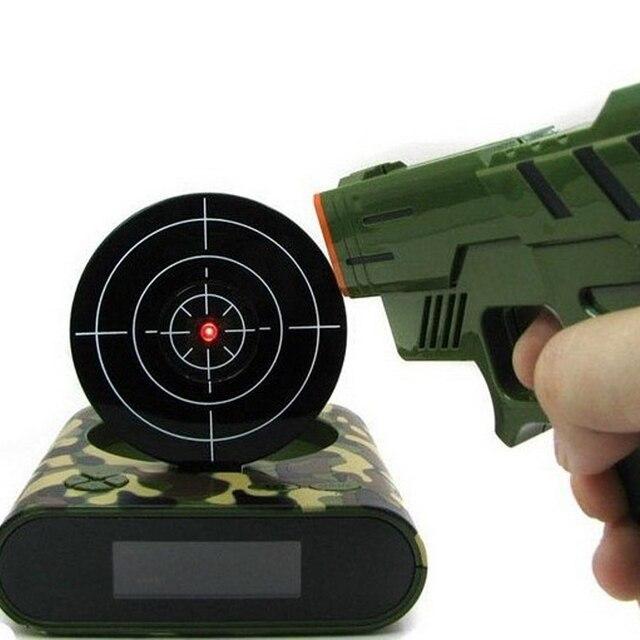1 jeu darmes et réveil | Gadget enregistrable, cible de bureau numérique, réveil de Table, cadeau créatif