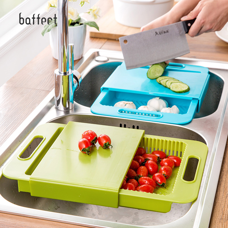 Multifunction Kitchen Sink Plate Chopping Board Small Plastic Fruit Cutting Board Sticky Knife Plate Draining Rack Washing Racks stainless steel sink drain rack