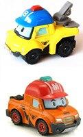 2Pcs Set Metal Model Anime Figure Robot Car Toys Robocar Poli Bucky Mark Kids Toys For