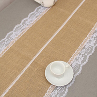 Lace Vintage Jute Table Runner Burlap Fabric For Burlap Chair Sashes Burlap Ribbon Wedding Deco Supply