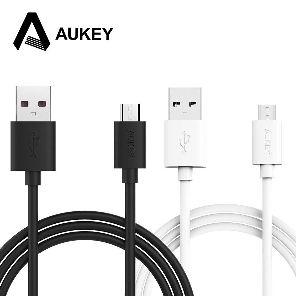 Aukey micro usb cable 6.6ft/2 m usb 2.0 de sincronización de datos cable de carg