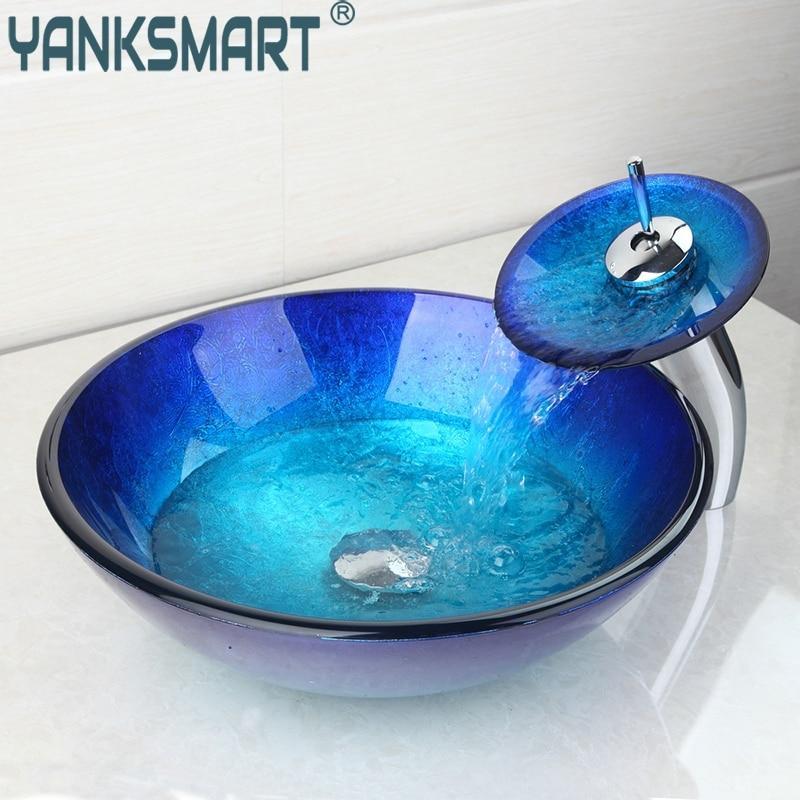 Vidrio templado victory mano pintura color art stico lavabo 4094 1 contador lavabos de vidrio - Lavabos de vidrio ...