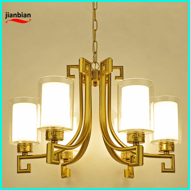New Chinese l chandelier living room lights Nordic American modern imitation retro hotel tea room bedroom restaurant chandeliers