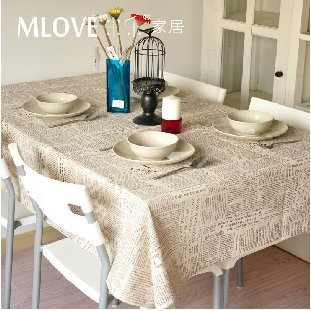 Gray Linen Fabric Coffee Color English Newspaper Linen tablecloth dining  table cloth Home Decoration Wedding DecorationPopular Newspaper Tablecloth Buy Cheap Newspaper Tablecloth lots  . Dining Room Linen Tablecloths. Home Design Ideas