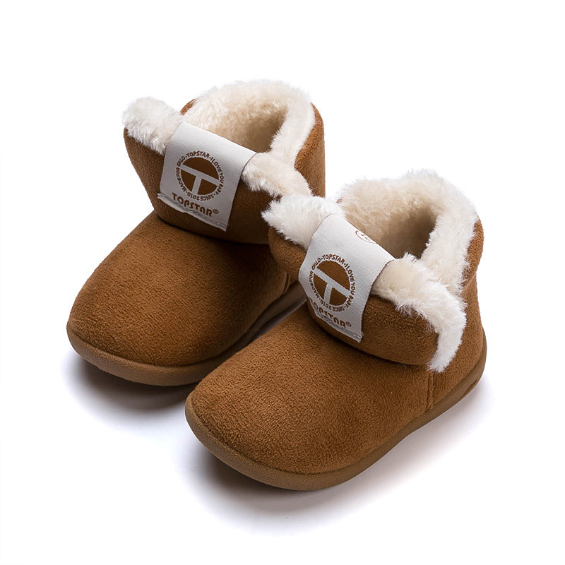 Baby Cotton-padded Shoes Boys And Girls Snow Boots 1-3 Years Old Warm Soft Bottom 2018 Winter Boots New Non-slip Children ShoesBaby Cotton-padded Shoes Boys And Girls Snow Boots 1-3 Years Old Warm Soft Bottom 2018 Winter Boots New Non-slip Children Shoes