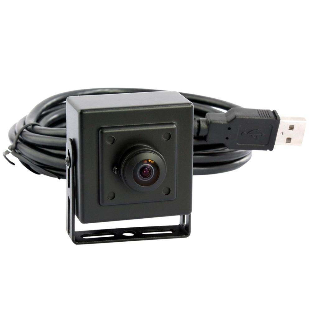 ELP 5MP HD high resolution Aptina 30fps@1080P 180degree fisheye lens CCTV Mini box USB Webcam camera Android цена 2017