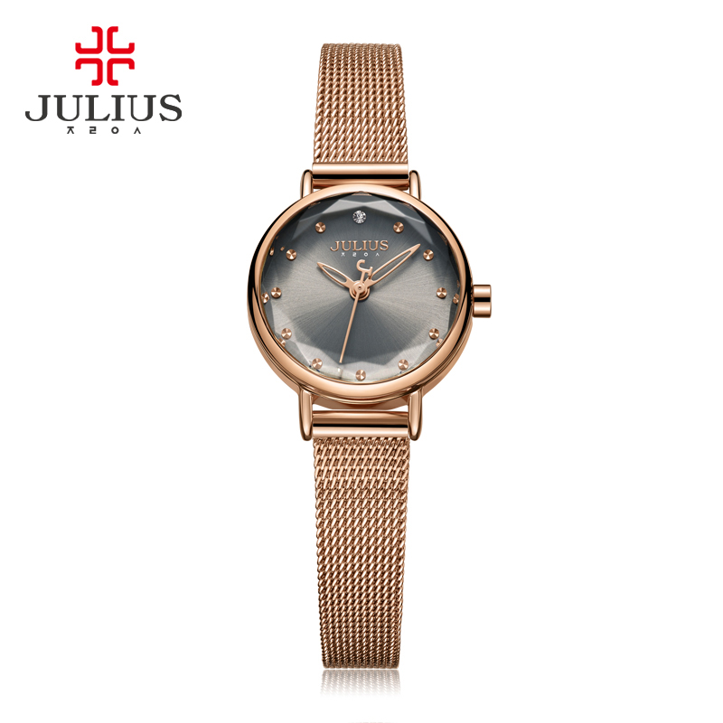 New Simple Cutting Glass Women's Watch Japan Quartz Hours Fashion Dress Stainless Steel Bracelet Birthday Girl Gift Julius Box new simple cutting glass women s watch japan quartz hours fashion dress stainless steel bracelet birthday girl gift julius box