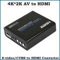 3 pcs 4 k * 2 k av composite para hdmi conversor de áudio e vídeo s-video rca para hdmi scaler converter box para hdtv camera dvd
