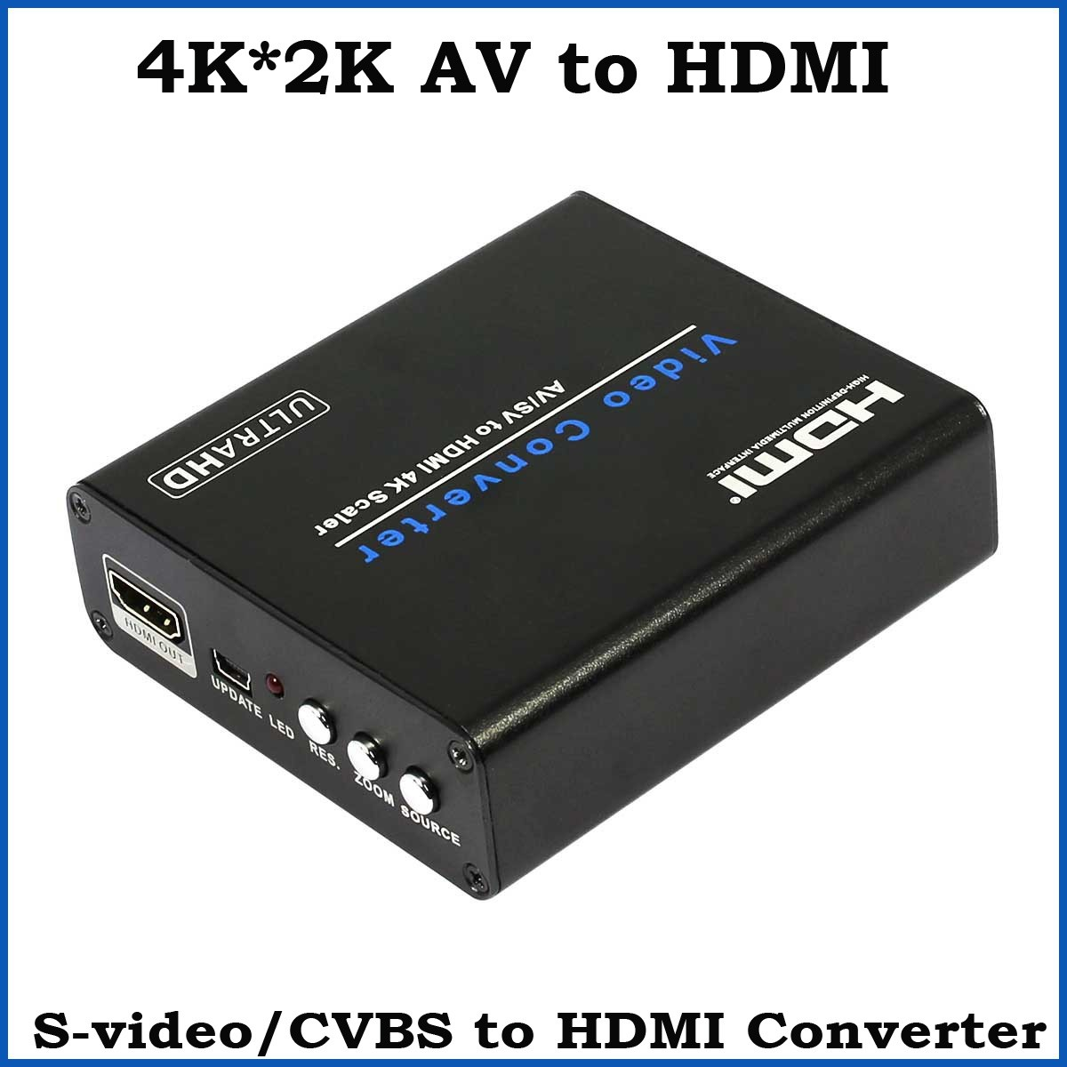 3pcs 4K*2K AV Composite to HDMI Audio Video Converter S-video RCA to HDMI Scaler Converter Box For HDTV Camera DVD 2016 new 8 ports 2output composite 3 rca video audio av switch switcher box selector 8 in1 out 8x1 8in 2out 8x2 for hdtv lcd dvd