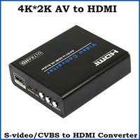 3pcs 4K 2K AV Composite To HDMI Audio Video Converter S Video RCA To HDMI Scaler