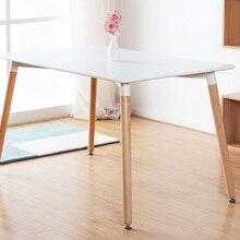 Обеденный стол из МДФ с деревянными ножками в современном стиле, деревянный стол для кафе, классический обеденный стол в современном стиле, деревянный стол в стиле лофт