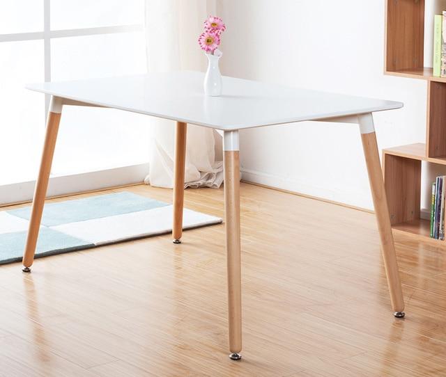 € 417.97 |Mesa de comedor de MDF con patas de madera de diseño moderno,  mesa de café de madera, mesa de comedor de diseño moderno clásico, loft ...