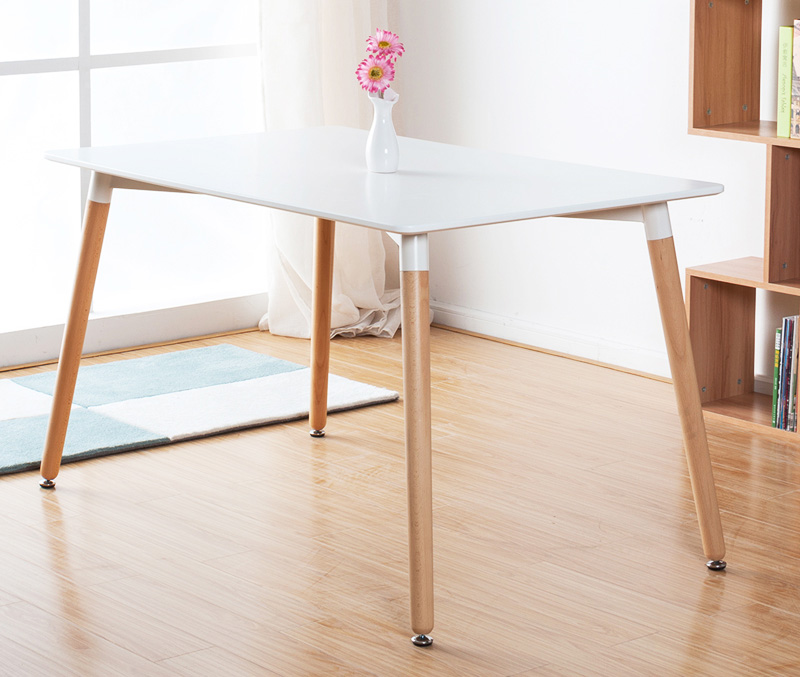 Us 459 0 Modern Design Wood Leg Mdf Top Dining Tea Table Cafe Clic Loft Wooden In Tables