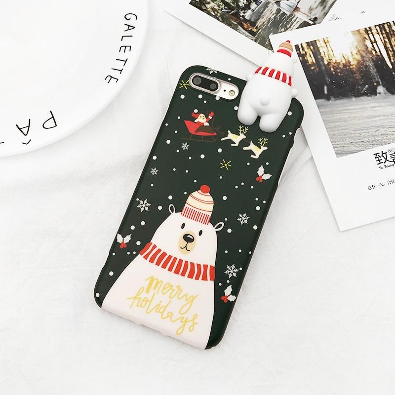 HTB1WUoDbZnI8KJjSsziq6z8QpXau - Christmas Gift Phone Case For iPhone 6 6S 7 8 Plus Cartoon Christmas Deer & Snowman Soft TPU Phone Back Cover Cases PTC 284