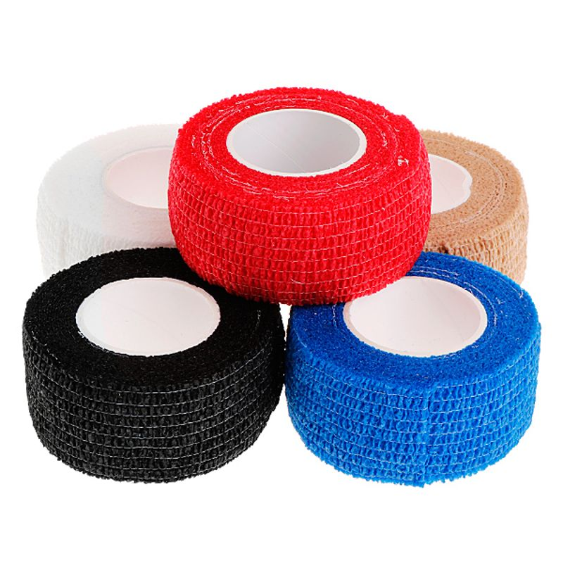 5Pcs Professional 2.5cm Disposable Tattoo Self-adhesive Elastic Grip Bandage Wrap Sport Tape Tattoo Supplies Accesories