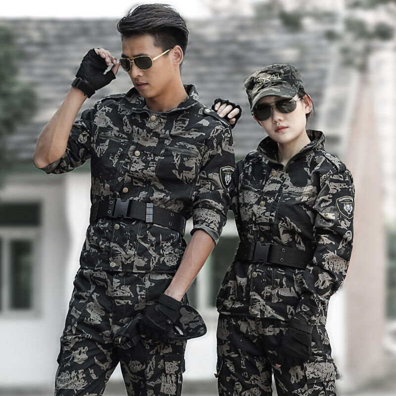 Hunting clothes men Camouflage suit Special forces black ...