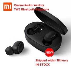 Image 1 - Xiaomi Redmi Airdots TWS Bluetooth אוזניות סטריאו אלחוטי אוזניות עם מיקרופון דיבורית Xiaomi אוזניות שליטת AI