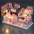 Сделай сам кукольный дом модель строительство комплекты деревянные 3D ручной работы миниатюрный кукольный домик игрушка Greative подарок на день рождения - довольно принцесса комната