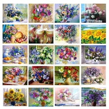 5d Diamond Painting Flowers Chinese Cross Stitch Mosaic mosaic embroidery Crystal Rhinestones