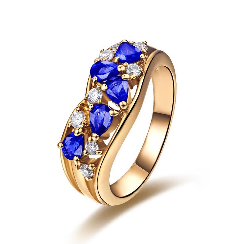 de luxe saphir diamant bague de mariage pour les femmes 18. Black Bedroom Furniture Sets. Home Design Ideas