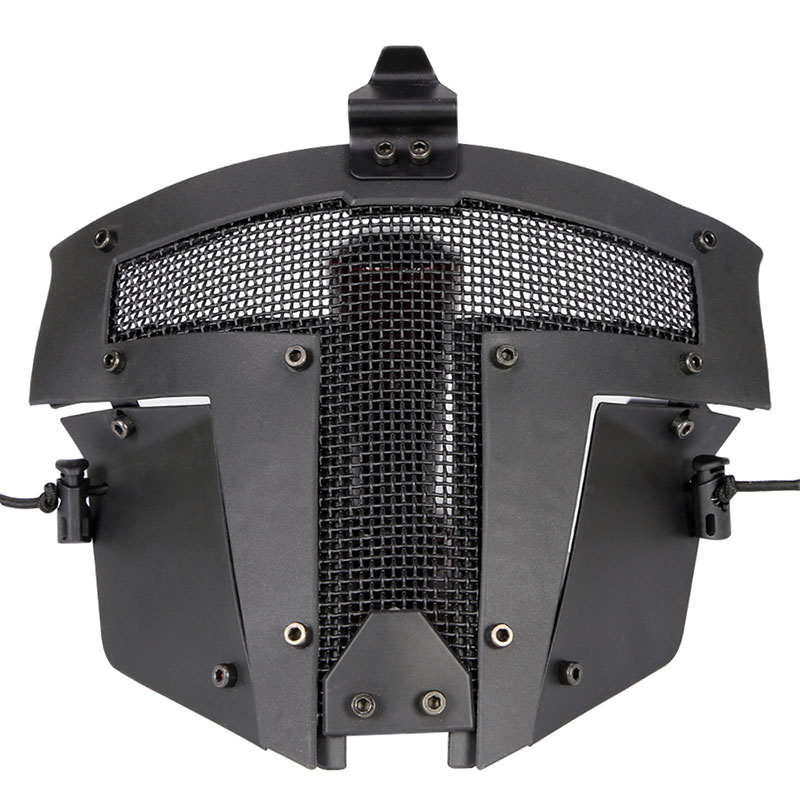 WoSporT Airsoft Tactical Mask Paintball Full Face Protective CS Mask Military Game Paintball Metal Steel Net Mesh Mask
