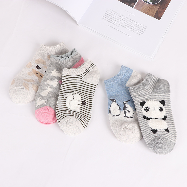 women cotton   socks   Cute animal Striped Women   Socks   Creative Casual Funny   Socks   for Female