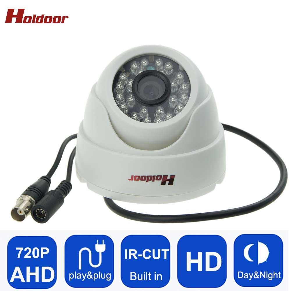 Holdoor CCTV camera IR Cut Filter AHD 720P surveillance camera 1.0MP HD Night Vision Mini Dome Surveillance security camera AHD 4 in 1 ir high speed dome camera ahd tvi cvi cvbs 1080p output ir night vision 150m ptz dome camera with wiper