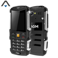 Original AGM M1 64MB ROM 128M RAM Single Core 2 inch mobile phone 2570mAh Tri-proof 2.0MP Rear Camera cell phone no Russian