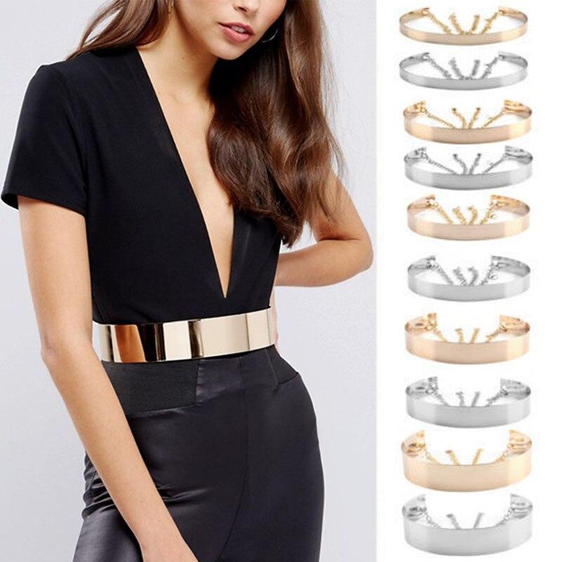 Mental   Belts   For Ladies Fashion Hollow Metal Waist   Belt   Women Dress Chain Charm Chain Dress Decor Accessories