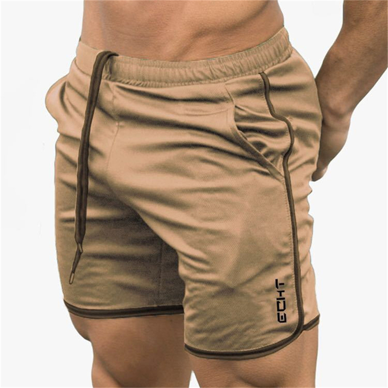 2019 Men Fitness Bodybuilding Shorts Men Summer Gyms Workout Male Breathable Mesh Quick Dry Sportswear Jogger Beach Short Pants