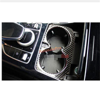 Carbon Fiber Console Centre Gear Box Water Cup Holder Cover Trim For Benz GLC class X205 2015 2016