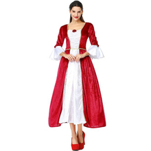 Deluxe Women Medieval Royal Court Queen Costume Halloween Carnival Adult Performance Cosplay Clothing women s costume vintage royal clothing queen cinderella european women s wear retro annual meeting theatre court dress drama