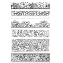 Retro Style Background Stamps Ocean Waves Borders Clear Stamps For Scrapbooking DIY Craft Card Making наручные часы orient fsz2f004w