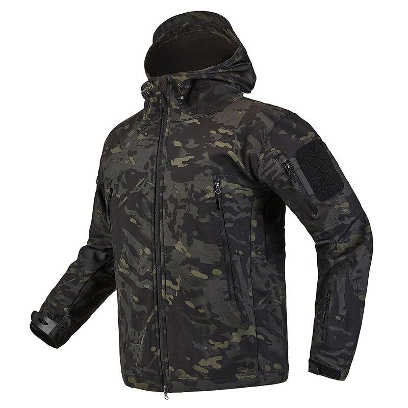 S.ARCHON Shark Skin Soft Shell Tactical Military Jacket Men Fleece Waterproof Army Clothing Multicam Camouflage Windbreakers Men 9