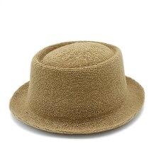 Летняя женская и мужская шляпа от солнца из рафии для джентльмена с надписью Dad Boater Fedora, шляпы для папы с плоской подошвой, пляжная шляпа с бахромой, Панама