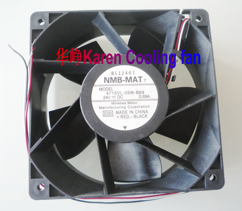 New Original for NMB 4715VL-05W-B69 E01 120*120*38MM 12CM 24V 0.89A Alarm Signal Inverter Cooling Fan new original nmb 9cm9038 3615rl 05w b49 24v0 73a 92 92 38mm large volume inverter fan