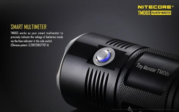 Lanterna led nitecore 4000 lúmens tm06s, lanterna
