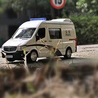 1:36 Kutulu 5 inç simülasyon alaşım araba modeli çocuk oyuncakları simülasyon Benz Vito Polis araba ekspres araba birden seçimler