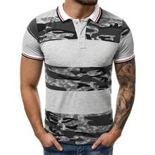 Men Summer New Brand Cotton Classic Casual Camouflage Patchwork Polo Shirt Men Business Short Sleeve Turn Down Collar Polo Shirt стоимость