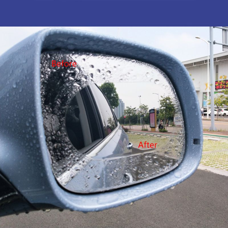 New 1 Pair Auto Car Anti Water Mist Film Anti Fog Coating Rainproof Hydrophobic Rearview Mirror Protective Film 4 Sizes 8