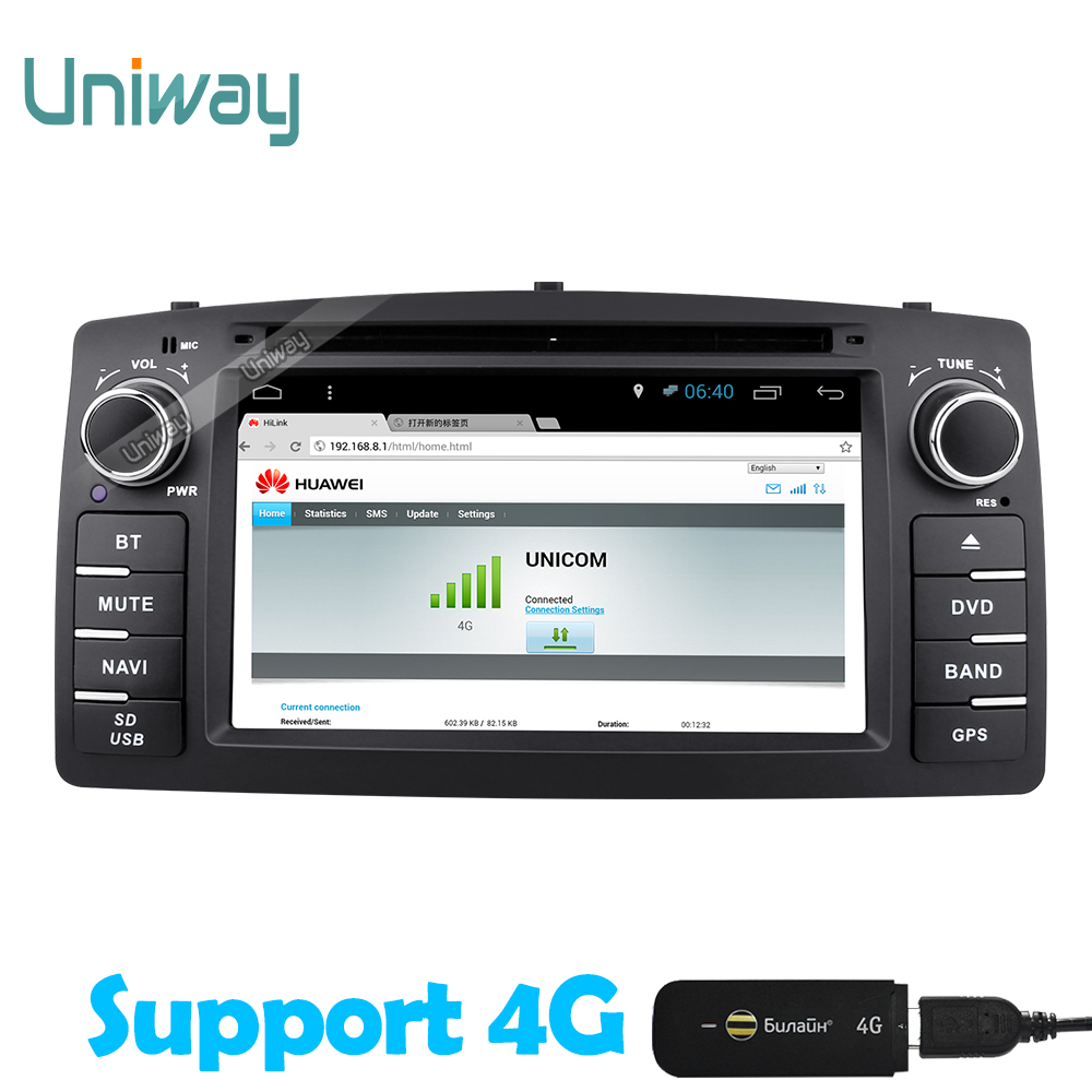 Aliexpress com buy uniway 2 din android 6 0 car dvd gps for toyota corolla e120 byd f3 2003 2006 car radio with steering wheel wifi obd function from