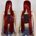 Wholesale price FREE p&P***Dark Red Long Cosplay Wig - 40 inch High Temp - CosplayDNA Wigs