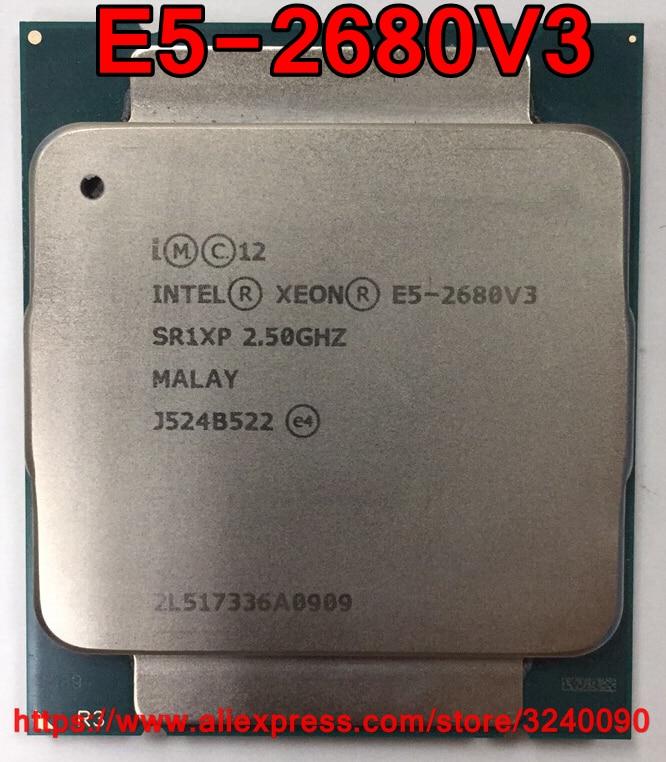 Original Intel Xeon Processor E5-2690V3 2.60GHz 20M 12CORES 22NM LGA2011-3 135W CPU E5 2690V3