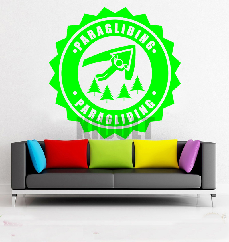 Creative Wall Decal Sign Hang Glide Adventure Extreme