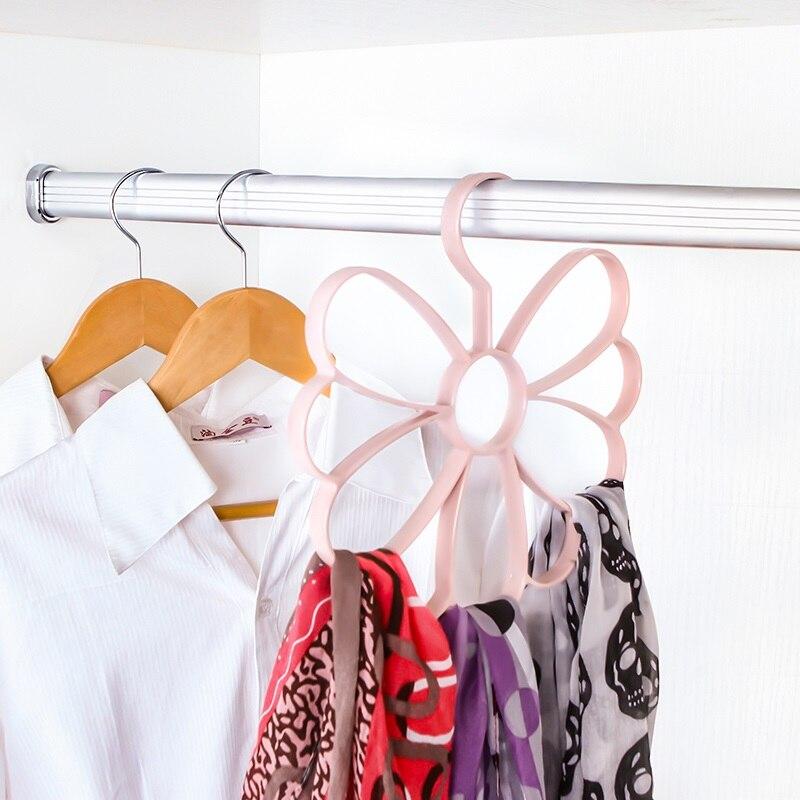 Flower Scarves Belt Hanger Holder Non Slip Organiser Jewelry Girl Hanger Scarf Display Ties Belt Organize Flower Storage Rack