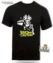 цена DBZ Future Trunks t shirt, Back to the future inspired, anime Dragon ball z tee Free shipping в интернет-магазинах