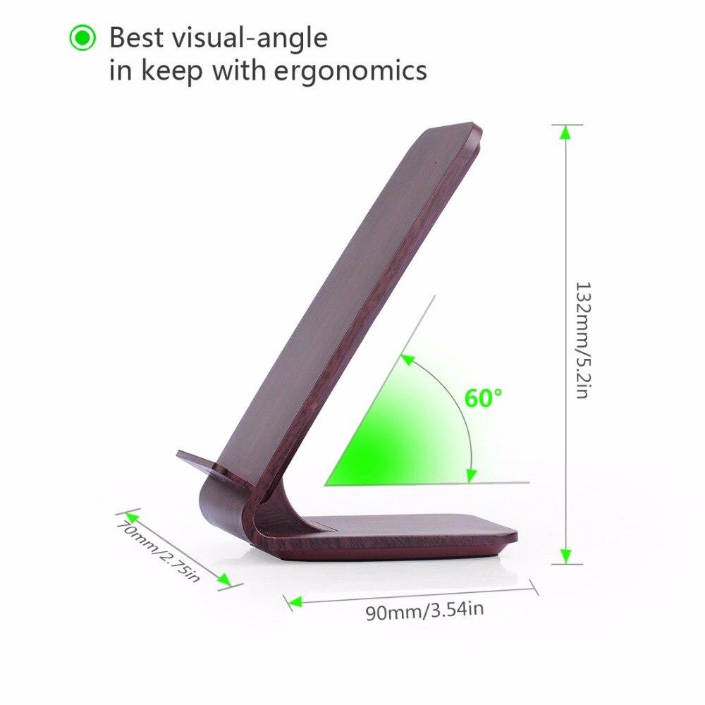 Wood Grain Stand Itian A8 Cargador inalámbrico rápido para iPhone 8 - Accesorios y repuestos para celulares - foto 6