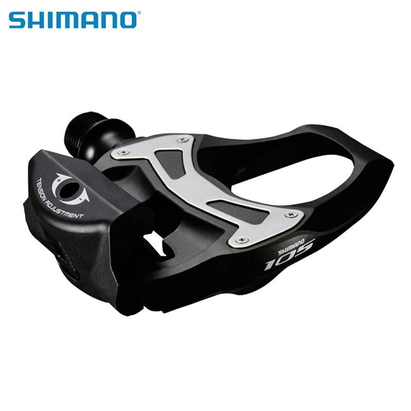 SHIMANO 105 PD 5800 Auto-Verrouillage Carbone SPD Pédales Avec 6 degrés Taquet Composants En Utilisant pour Vélo de Course Route pièces de vélo