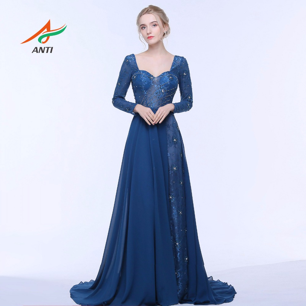 एएनटीआई 2017 डार्क ब्लू शाम - विशेष अवसरों के लिए ड्रेस
