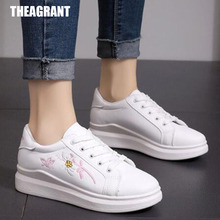 THEAGRANT Platform Casual Shoes Woman Embroider Wom